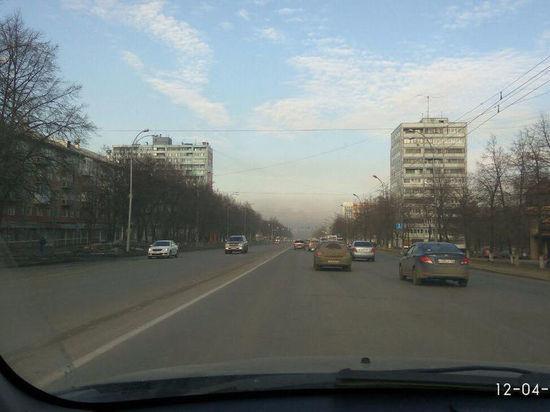 Весна в Кемерове: город заволокло облаками пыли