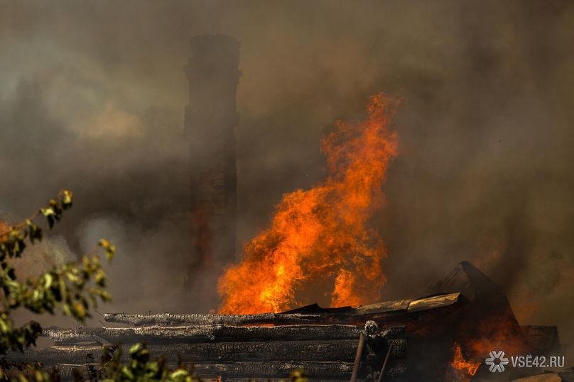 Пожар вкоровнике начался ночью вКузбассе